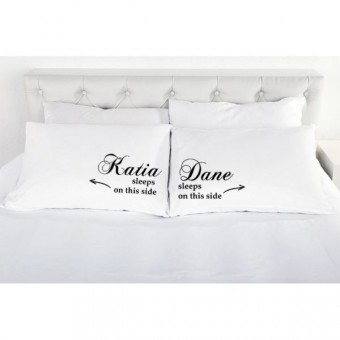 Personalised His and Hers Pillowcases