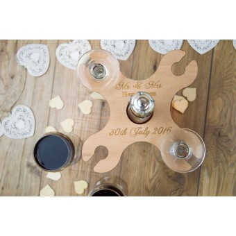 Wine Butler for four glasses