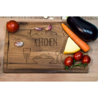 Personalised Acacia Serving Chopping Board - Large