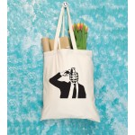 Banksy Themed Tote Bags - Cream