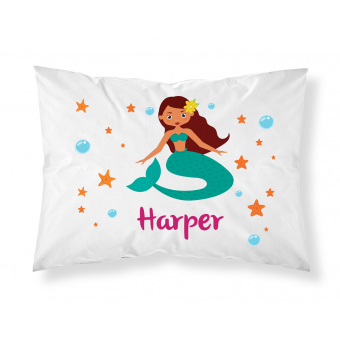 Personalised Children Mermaid Pillowcase