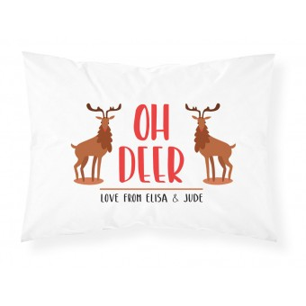 Christmas Text Pillowcase