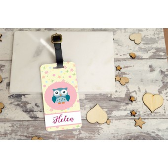 Personalised Kids Bag Tag - Girls