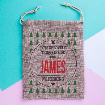 Mini Personalised Christmas Sack