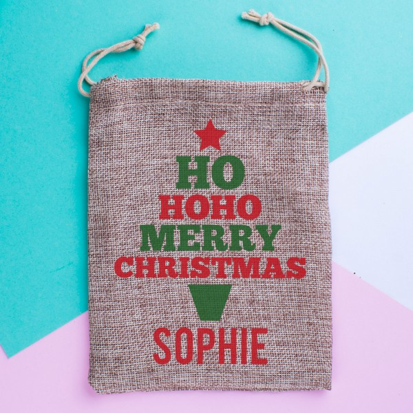 Mini Personalised Christmas Sack