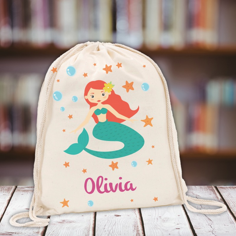 0ede950355 Personalised Kids Gym Bag - Mermaid