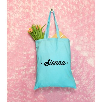 Name Tote Bag - Dots