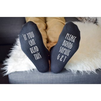 Personalised Socks Bring G&T