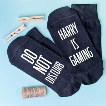 Personalised Socks Gaming Don't disturb