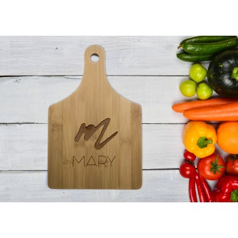 Personalised Bamboo Serving or Cutting Board - Handle