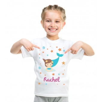 Personalised Mermaid T-Shirt