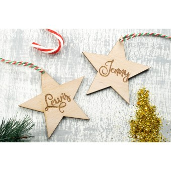 Personalised Christmas Ornaments Stars- Pack of Two #5