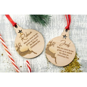 Personalised Christmas Ornaments Baubles - Pack of Two #7