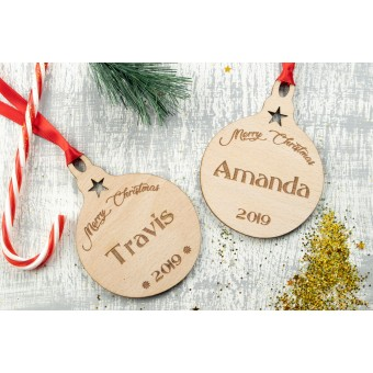 Personalised Christmas Ornaments Baubles - Pack of Two #8