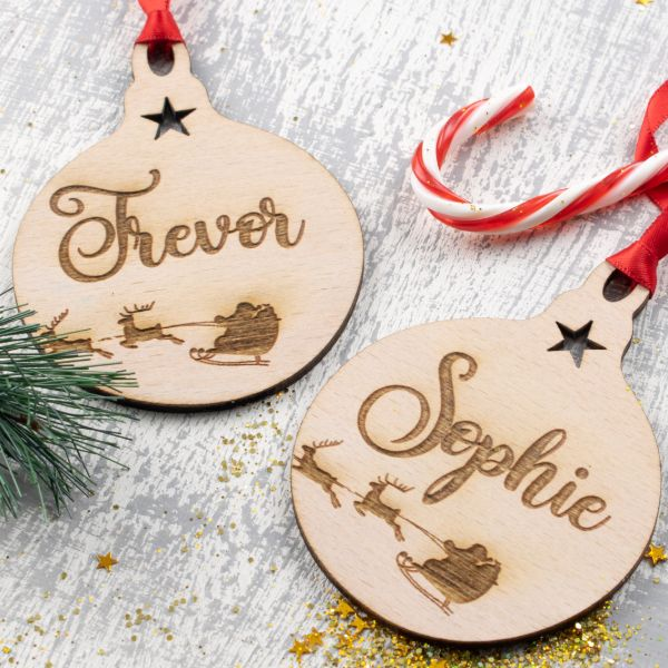 Personalised Christmas Ornaments Baubles - Pack of Two #6