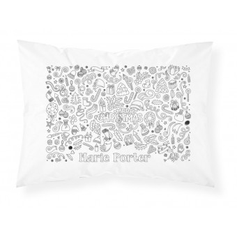 Colour-in Christmas Pillowcases