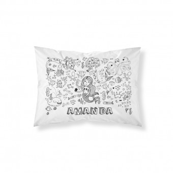 Personalised Doodle Mermaid Pillowcase