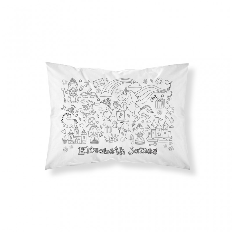 Personalised Colour In Princess Pillowcase