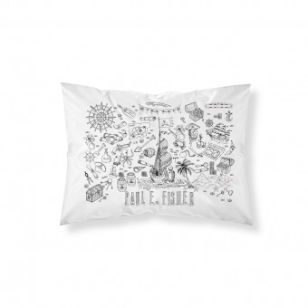 Personalised Doodle Pirate Pillowcase