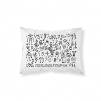 Personalised Doodle Robots Pillowcase