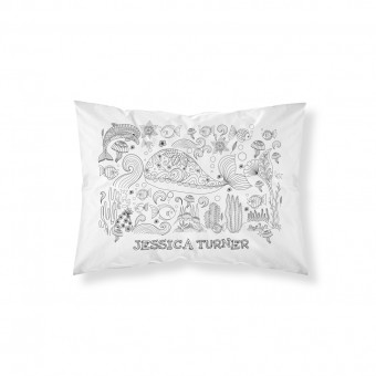 Personalised Doodle Sea Life Pillowcase