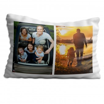 Personalised Photo Collage Pillowcase Up to 2 Photos