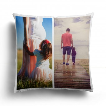 Personalised Photo Collage and Message Cushion Up to 2 Photo