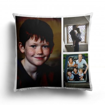 Personalised Photo Collage and Message Cushion Up to 3 Photo