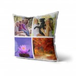Personalised Photo Cushion Cover with Up to 4 Photos