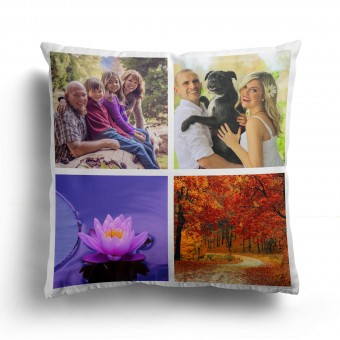 Personalised Photo Collage and Message Cushion Up to 4 Photo