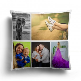 Personalised Photo Cushion Cover with Up to 5 Photos