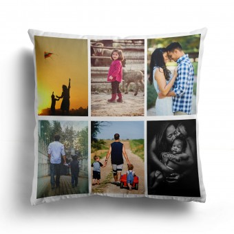 Personalised Photo Cushion Cover with Up to 6 Photos