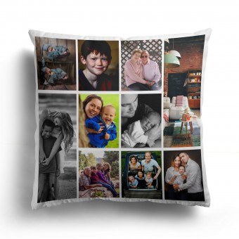 Personalised Photo Collage and Message Cushion Up to 10 Photo