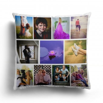 Personalised Photo Collage and Message Cushion Up to 11 Photo