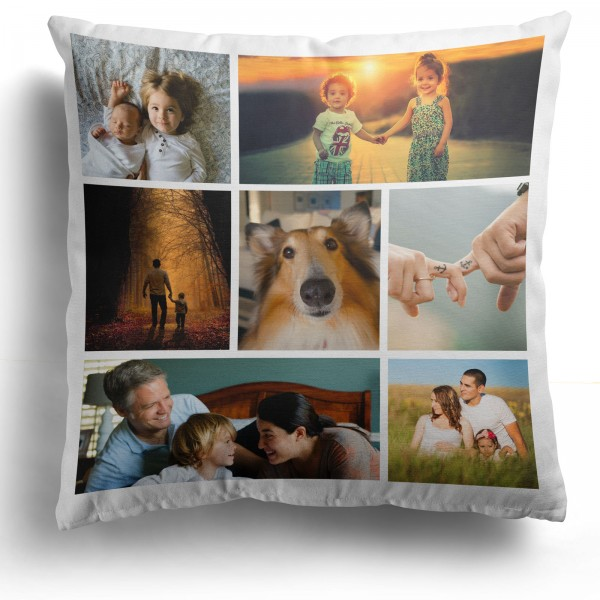 Personalised Photo Cushion Cover with 7 Photo PIP-207