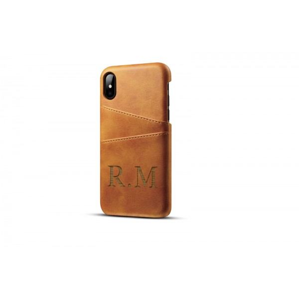 Personalised Leather Phone Case and Card Wallet