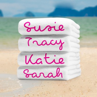 Personalised Beach Towel Large 70x150cm
