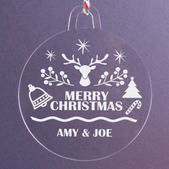 Personalised Acrylic Ornaments - Pack of Two #105