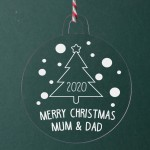 Personalised Acrylic Ornaments - Pack of Two #112