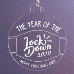 Personalised Christmas Lockdown Ornaments - Pack of Two #104