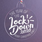 Personalised Christmas Lockdown Ornaments - Pack of Two #110