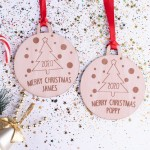 Personalised Christmas Lockdown Ornaments - Pack of Two #112