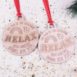 Personalised Christmas Lockdown Ornaments - Pack of Two #102