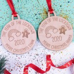 Personalised Christmas Lockdown Ornaments - Pack of Two #114