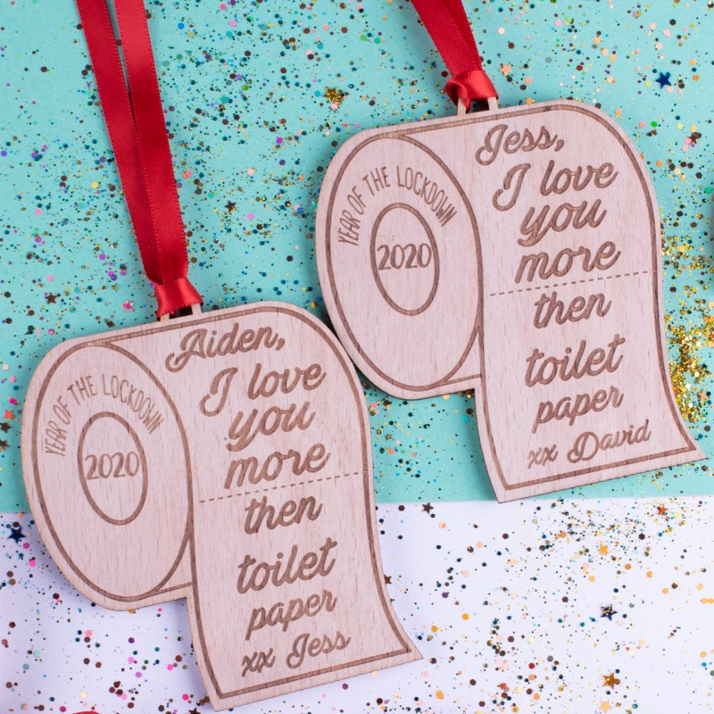 Personalised Christmas Lockdown Ornaments - Pack of Two #106