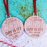 Personalised Christmas Lockdown Ornaments - Pack of Two #118