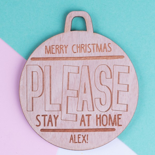 Personalised Christmas Lockdown Ornaments - Pack of Two #101