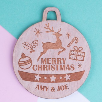 Personalised Christmas Lockdown Ornaments - Pack of Two #111