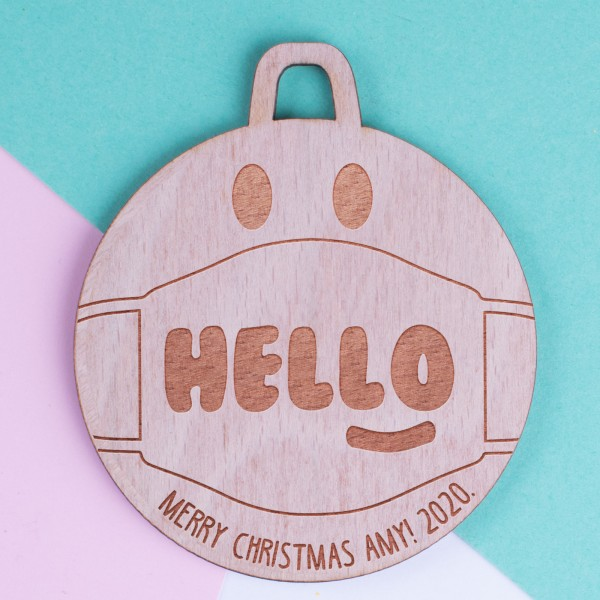 Personalised Christmas Lockdown Ornaments - Pack of Two #115
