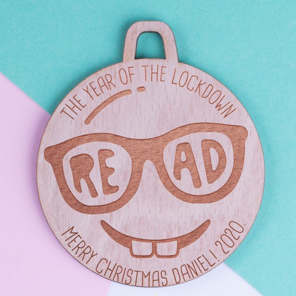 Personalised Christmas Lockdown Ornaments - Pack of Two #117